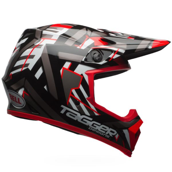 Casque Cross Bell MX-9 Mips Double Trouble Black Red