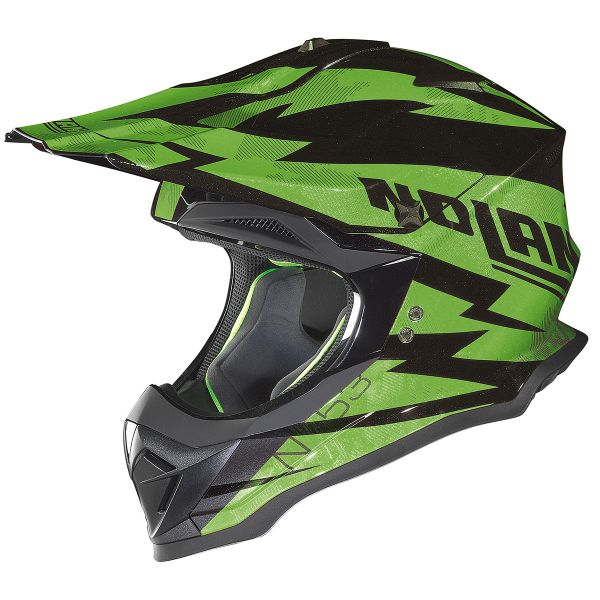 Casque Cross Nolan N53 Comp Black Green 18