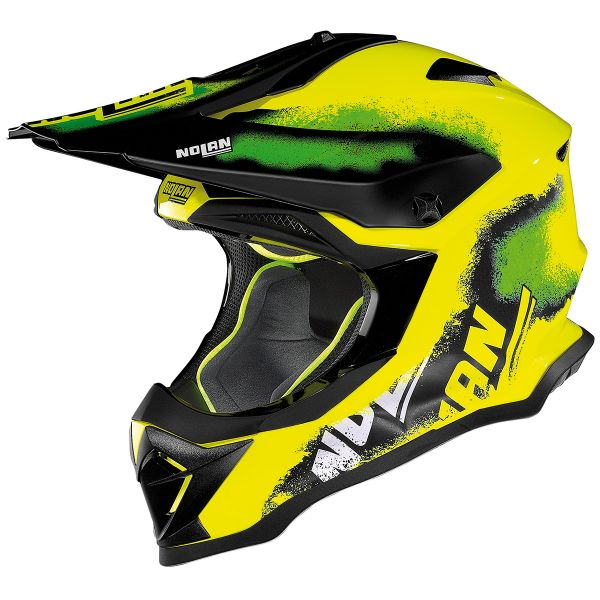 Casque Cross Nolan N53 Lazy Boy Led Yellow 23