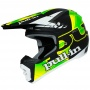 Casque Cross pull-in Pull-in Black Neon Green