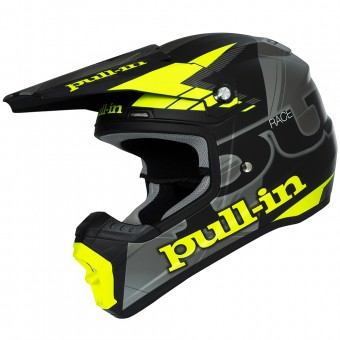 Casque Cross pull-in Pull-in Black Silver Neon Yellow