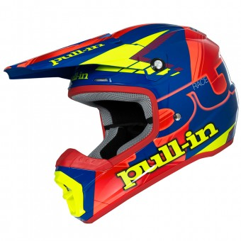 Casque Cross pull-in Pull-in Blue Neon Orange Yellow