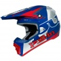 Casque Cross pull-in Pull-in Blue Red Silver