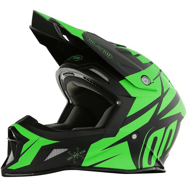 Casque Cross SHOT Striker Exod Neon Green Matt