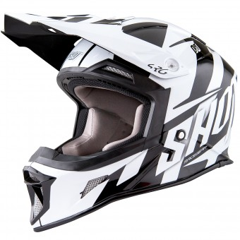 Casque Cross SHOT Striker System Black White