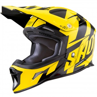 Casque Cross SHOT Striker System Neon Yellow Black