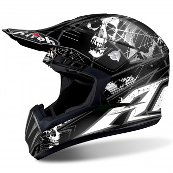 Casque Cross Airoh Switch Scary Black Matt