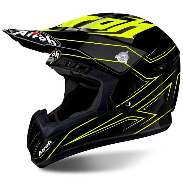 Casque Cross Airoh Switch Spacer Yellow