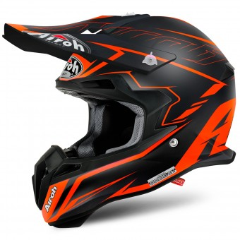 Casque Cross Airoh Terminator 2.1 S Slim Orange Matt