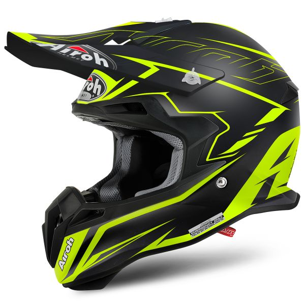 Casque Cross Airoh Terminator 2.1 S Slim Yellow Matt