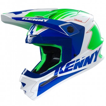 Casque Cross Kenny Track Navy Blue Neon Green