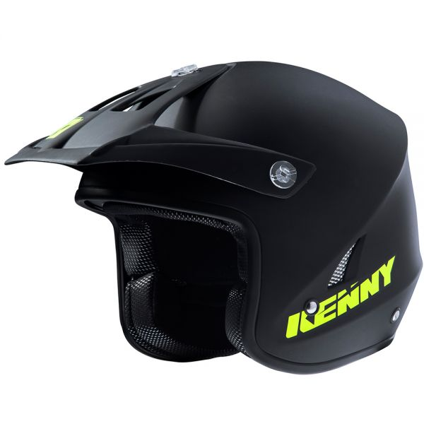 Casque Cross Kenny Trial Up Matt Black Neon Yellow