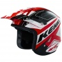 Casque Cross Kenny Trial Up Red Black