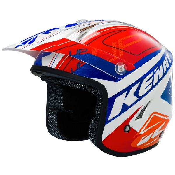 Casque Cross Kenny Trial Up Red Orange Blue
