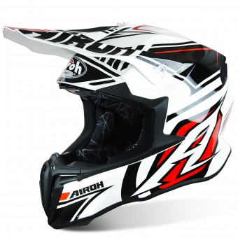 Casque Cross Airoh Twist Avenger White