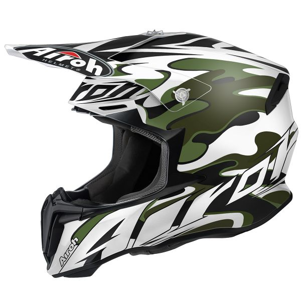 Casque Cross Airoh Twist Mimetic White Matt