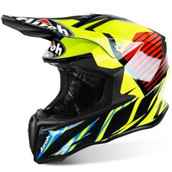 Casque Cross Airoh Twist Strange Blue