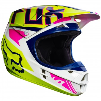Casque Cross FOX V1 Falcon Navy White 045