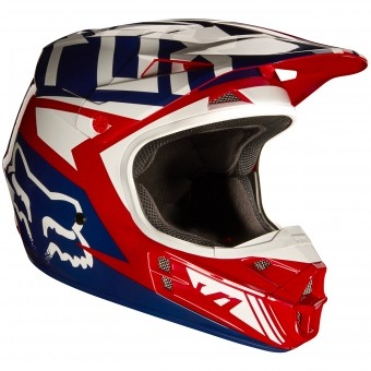 Casque Cross FOX V1 Falcon Red White 054