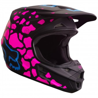 Casque Cross FOX V1 Grav Matte Black Pink 285