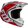 Casque Cross FOX V2 Nirv Red White 054