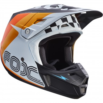 Casque Cross FOX V2 Rohr White 008