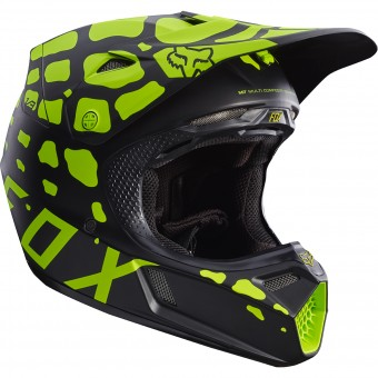 Casque Cross FOX V3 Grav Black Yellow 019