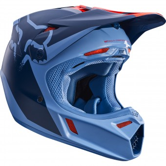 Casque Cross FOX V3 Libra Orange Blue 592