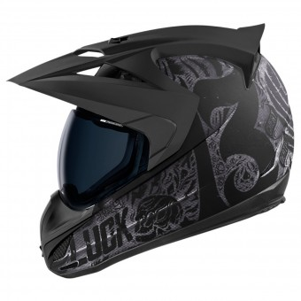 Casque Cross ICON Variant Construct Hard Luck Charcoal