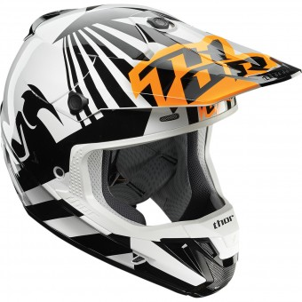 Casque Cross Thor Verge Dazz Flo Orange Black