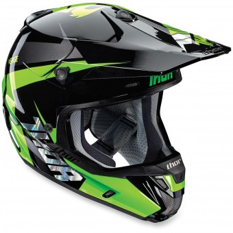 Casque Cross Thor Verge Rebound Flo Green