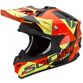 Casque Cross Scorpion VX-15 Evo Air Akra Black Orange Yellow