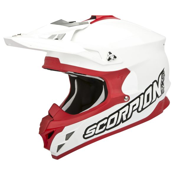 Casque Cross Scorpion VX-15 Evo Air Blanc Rouge
