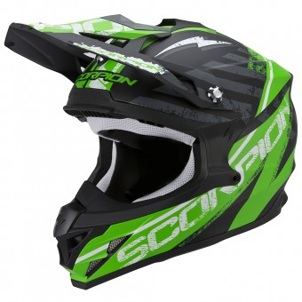 Casque Cross Scorpion VX-15 Evo Air Gamma Matt Black Green