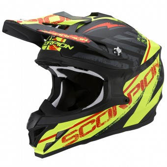 Casque Cross Scorpion VX-15 Evo Air Gamma Matt Black Neon Yellow