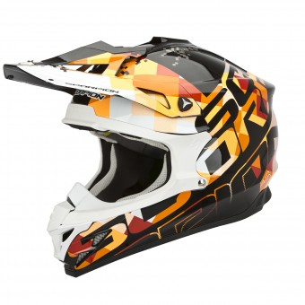 Casque Cross Scorpion VX-15 Evo Air Grid Noir Orange