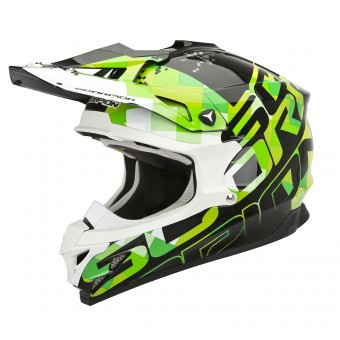 Casque Cross Scorpion VX-15 Evo Air Grid Noir Vert