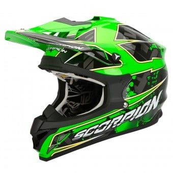 Casque Cross Scorpion VX-15 Evo Air Magma Vert Fluo