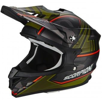 Casque Cross Scorpion VX-15 Evo Air Miramar Matt Black Green