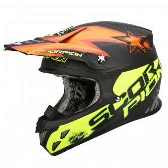 Casque Cross Scorpion VX-20 Air Magnus Orange Jaune Fluo