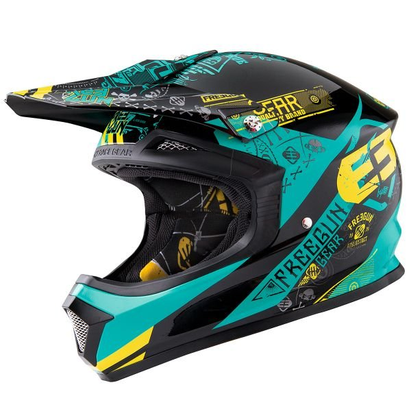 Casque Cross Freegun XP-4 Bandana Mint Lime