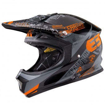 Casque Cross Freegun XP-4 Bandana Orange Grey