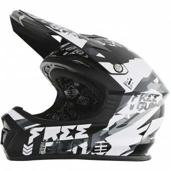 Casque Cross Freegun XP-4 Honor Black White