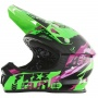 Casque Cross Freegun XP-4 Honor Neon Green Purple