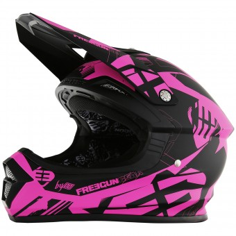 Casque Cross Freegun XP-4 Link Neon Pink Matt