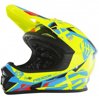 Casque Cross Freegun XP-4 Link Neon Yellow Matt