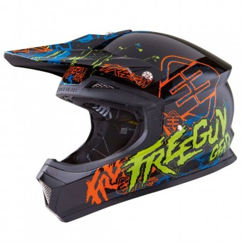 Casque Cross Freegun XP-4 Overload Yellow Green