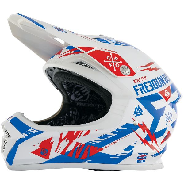 Casque Cross Freegun XP-4 Trooper Blue Red