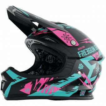 Casque Cross Freegun XP-4 Trooper Mint Neon Pink
