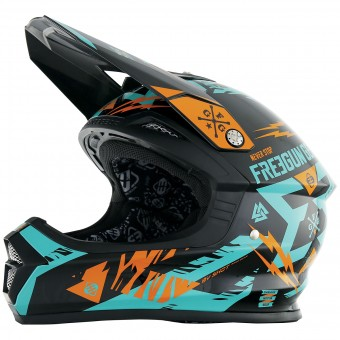 Casque Cross Freegun XP-4 Trooper Mint Orange